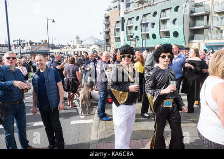 Elvis,a,la,Festival,Festival Elvis,Porthcawl Bridgend,county,France Pays de Galles,UK,Royaume-Uni, Europe, Banque D'Images