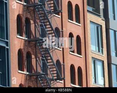 Lofts rénovées à Tribeca, triangle aka canal ci-dessous, est l'un des plus recherchés et coûteux résidentiel dans Banque D'Images