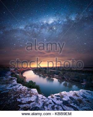 Voie Lactée sur le fleuve Murray Banque D'Images