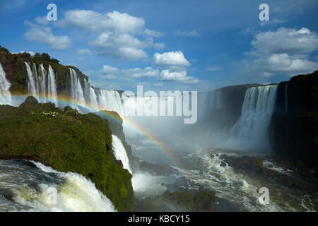 Gorge de Devils (Garganta do Diabo), chutes d'Iguazu, frontière Brésil - Argentine, Amérique du Sud Banque D'Images