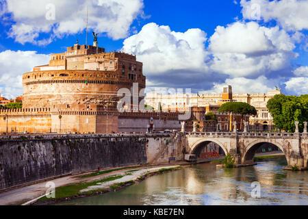 Beau Castel Sant'Angelo à Rome,Italie. Banque D'Images