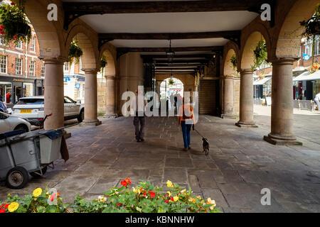 Bâtiment du vieux marché à Shrewsbury Banque D'Images