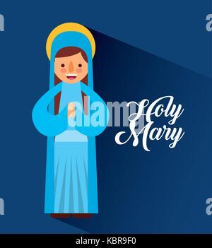 Sainte Marie Mère Noël béni cartoon
