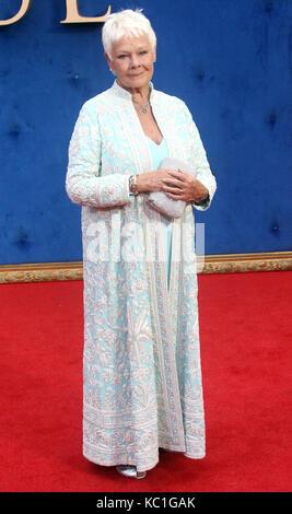 Sep 05, 2017 - Dame Judi Dench assistant à Victoria & Abdul UK Premiere, Odeon Leicester Square à Londres, Angleterre, Banque D'Images
