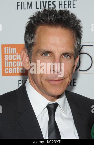 New York, NY, États-Unis. 01 octobre 2017. Ben Stiller assiste à la projection du festival du film de New York sur Banque D'Images