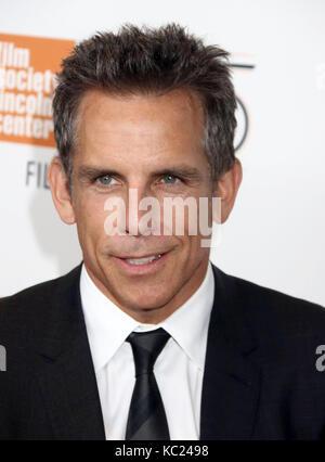New York, New York, USA. 1 octobre, 2017. L'acteur ben stiller assiste à la 55e festival du film de new york premiere Banque D'Images