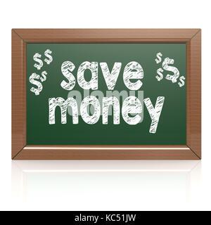 Économiser de l'argent mots sur un tableau avec l'image hi-res rendus d'art qui pourrait être utilisé pour toute la conception graphique.