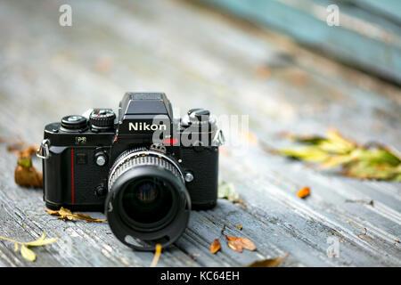 Nikon F3 single lens reflex 35mm caméra film professionnel, d'abord lancé en 1980 et est resté en production jusqu'en Banque D'Images