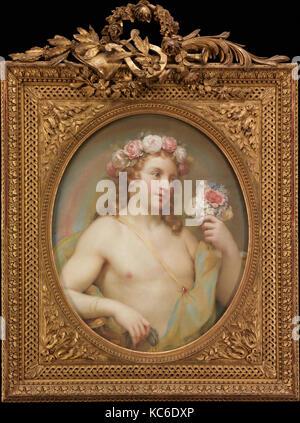 Plaisir, ca. 1754, pastel sur papier, prévue sur toile, ovale, 24 3/8 x 19 1/4 in. (61,9 x 48,9 cm), des pastels Banque D'Images