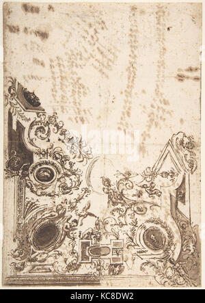 Conception pour un plafond, anonyme, l'italien, 18e siècle Banque D'Images
