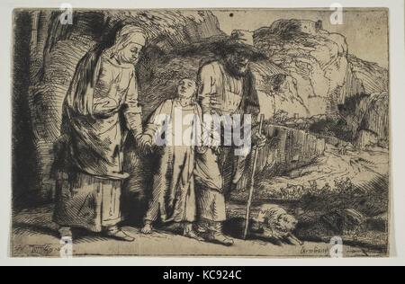 Le Christ entre ses parents, de retour de la Temple, Rembrandt, 1654 Banque D'Images