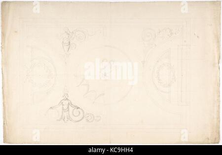 Conception pour un plafond, anonyme, British, 18e siècle Banque D'Images
