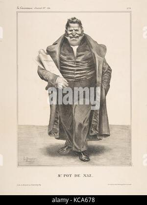 De Podenas, publiée dans La Caricature no. 130, 2 mai 1833, Honoré Daumier, le 2 mai 1833 Banque D'Images
