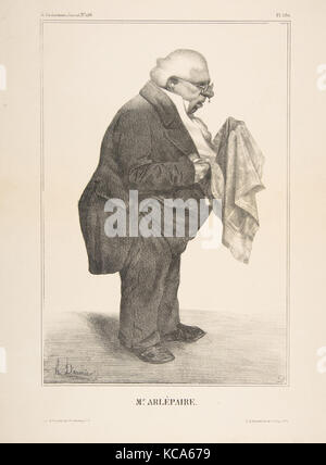 Harlé Père, publiée dans La Caricature no. 136, 5 juin 1833, Honoré Daumier, le 5 juin 1833 Banque D'Images