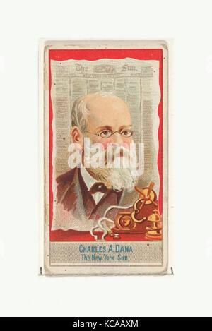 Charles A. Dana, le New York Sun, de l'American Editors series (N1) pour les marques de cigarettes Allen & Ginter, Banque D'Images