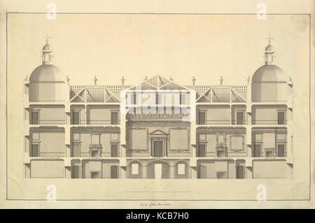 La Section de l'Ouest, Houghton Hall, Norfolk, Isaac Ware, 1735 Banque D'Images