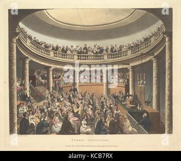 Institution de Surrey (Microcosme de Londres, pl. 81), conçu et gravé par Thomas Rowlandson, Septembre 1, 1809 Banque D'Images