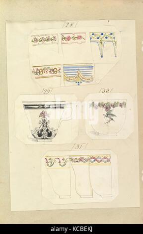 Dix modèles de tasses décorées, y compris Modèle Osborne, Alfred Henry Alfred Crowquill Forrester, 1845-55 Banque D'Images