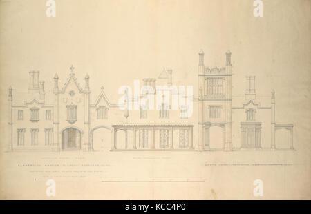 Belmead, hôtel particulier de plantation pour Philip St. George Cocke, Powhatan Co., Virginie (altitude de façade Banque D'Images