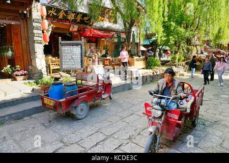 La vieille ville de Shuhe site du patrimoine mondial, la province du Yunnan, Chine. site ancien peuple ethnique Banque D'Images