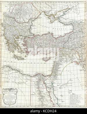 1794, Anville Site de l'Empire Romain, la Grèce inclues Banque D'Images
