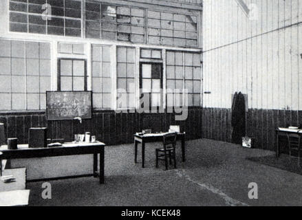 Photographie de l'office de Pierre Curie (1859-1906) Physicien français, pionnier de la cristallographie, magnétisme, Banque D'Images