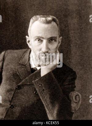 Photographie de Pierre Curie (1859-1906) Physicien français, pionnier de la cristallographie, magnétisme, piézo Banque D'Images