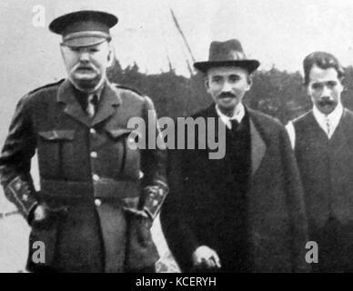 Mohandas Karamchand Gandhi Angleterre 1914 visites. Gandhi a établi une communauté idéaliste appelé 'Tolstoï farm, Banque D'Images