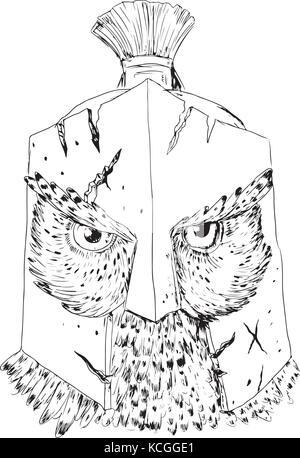 Illustration Dun Casque Spartiate Vu De Lavant Ensemble