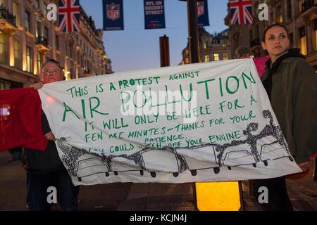 Londres, Royaume-Uni. 5Th oct, 2017. arrêter de tuer les londoniens protester: oxford Circus, Londres UK. 5 octobre, Banque D'Images