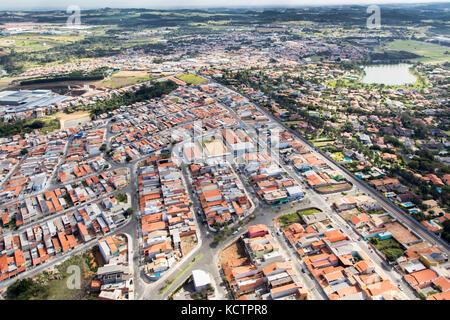 Vue aérienne - cabreúva, Brésil Banque D'Images