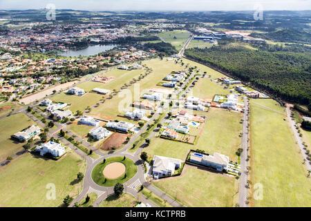 Vue aérienne - portal do japy towncity Banque D'Images