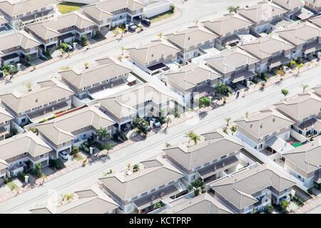 Vue aérienne de Jundiaí, ville près de São Paulo - Brésil. maisons à townhouse nature village (condomínio de casas) Banque D'Images