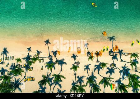 Vue aérienne de Caribbean resort, Punta Cana, République dominicaine
