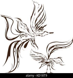 oiseaux de fantaisie Banque D'Images