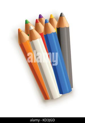 Groupe des crayons Banque D'Images