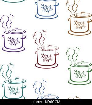 Arrière-plan transparent, cuisine pan Banque D'Images
