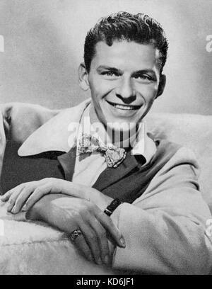 Frank Sinatra, chanteur, comédien et metteur en scène, 1915-1998. Utilisez uniquement éditoriale