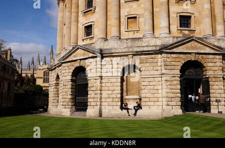 Oxford Oxfordshire Royaume-Uni - la Radcliffe Camera partie bâtiment de la Bodleian Library dans le centre de la Banque D'Images