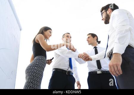 Poignée de gens d'affaires.Le concept d'entreprise. Banque D'Images