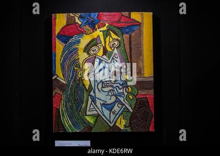 Londres, Royaume-Uni. 13 oct, 2017. Le tableau de Picasso les pleurs les femmes de chocolat sur l'affichage à l'art Banque D'Images