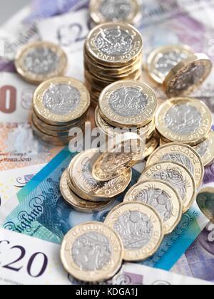 Livre de monnaie et des billets de banque. Banque D'Images