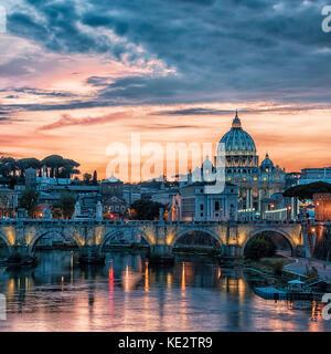La basilique St Pierre à Rome Banque D'Images