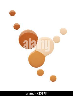 Enduire de peinture des produits cosmétiques sur un fond blanc Banque D'Images