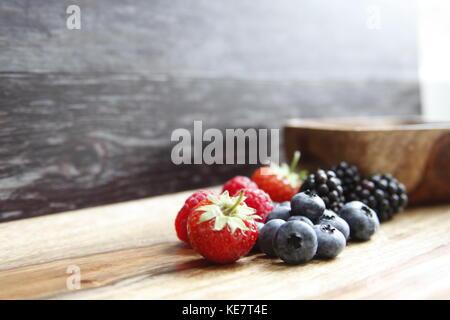 J'adore les petits fruits Banque D'Images