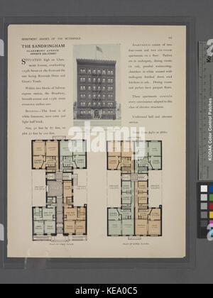 L'Asse, en face de l'avenue Claremont 125 Rue; Plan d'étage; plan d'étages supérieurs (NYPL b12647274 465679) Banque D'Images