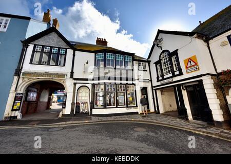 Centre d'information touristique et l'entrée de la Lyme Regis Dorset théâtre marine England UK Banque D'Images