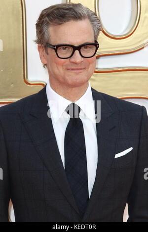 Kingsman: le cercle d'or uk premiere à l'odeon leicester square, London avec: Colin Firth où: London, Royaume Banque D'Images