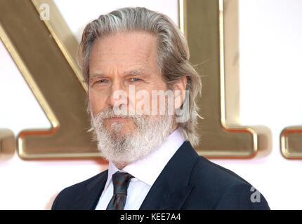 18 sept, 2017 - Jeff Bridges assister à 'Kingsman: Le Cercle d'Or' Première Mondiale, de Leicester Square à Londres, Banque D'Images
