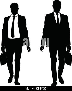 Forme D Un Homme D Affaires En Cravate En Montant Un Escalier